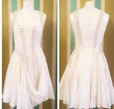 All Saints Aemilla White Dress 8 Victorian Steampunk Pirate Cosplay Corset Hitch