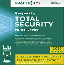 Kaspersky Total Security 2017, 3 Device 2 Yr for Win, MAC, Android - License Key