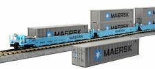 KATO 1066191 N  MAXI-I 5 Well Car Set w/10 Containers MAERSK 100010 106-6191 NEW