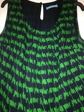 Womens top Black and green 6 M&S