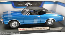1971 CHEVROLET CHEVELLE SS 454 in Blue 1/18 scale model MAISTO