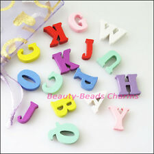 80Pcs Mixed Craft Wood Wooden Letters Findings For DIY Makings 15mm