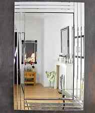 Large Triple Bevelled Wall Mirror. 100cm x 70cm.