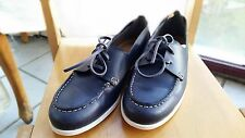 Authentic Chloe Tucson Calf Casual Shoes in Navy Leath BNIB Size 38.5