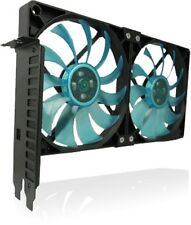 Gelid Solutions PCI Slot VGA Cooler Fan Holder with two slim 120mm UV Fans