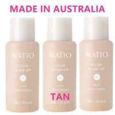 3 Natio Fluid Make Up with Moisturiser TAN Liquid Foundation Made in Australia