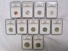 2005 P SMS NGC MS 67 11-COIN SET 1C 5C 10C 25C 50C $1 *