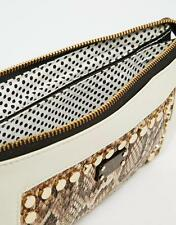 Pauls Boutique Womens Gold Studded Clutch Purse Hand Bag New