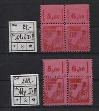 SBZ 11 x b + 11 y jeweils beide Plattenfehler I und II postfrisch (B04627)