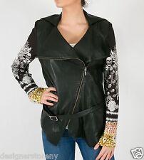 Camilla Franks State Of Disorder Leather Jacket High Collar Swarovski Crystals
