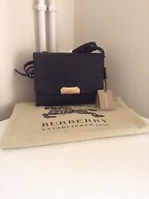 Burberry Black Leather Side Bag