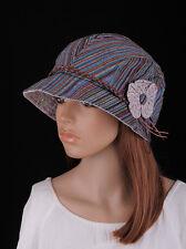 M253 Mix Color Cute Flower 100%Cotton Women's Summer/Autumn Brim Hat Newsboy Cap