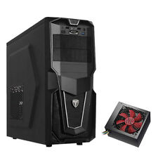 AvP STORM P28 BLACK ATX GAMING TOWER CASE WITH 750W PSU INSTALLED & USB 3.0