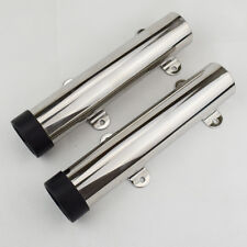 Qty 2 Stainless Steel 316 Rod Holder Flush Mount Fishing Rod Holder  Fixed Newly