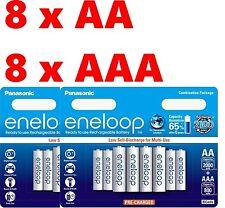 16 Panasonic Eneloop Rechargeable Ni-MH Batteries 8 x AA and 8 x AAA