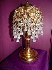 Vintage BOUDOIR GYPSEY GYPSY LAMP Glass DROPLETS LIGHT CRYSTAL CHANDELIER Clear