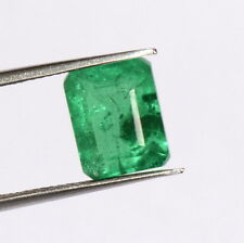 "Emerald Color ""Doublet"" 10x8 mm Octagon Cut 3.35 Cts Green Shade Loose Gemstone"