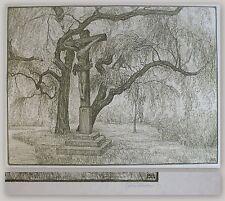Ferdinand Steiniger Lithographie Kreuz St. Elisabeth Nürnberg 1916 Grafik xz