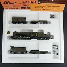 Vintage LILIPUT 852 HO H0 DR DRG Wehrmacht train set with BR 52 , NEW NOS