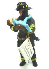 S25)  PAPO ( 70008) US Feuerwehrmann mit Baby Feuerwehr