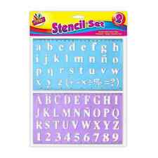 2 Piece Stencil Set Letters Alphabet Craft Small & Large Letters-22 to 30mm 1071