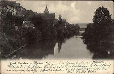 Bad Sooden Allendorf Hessen AK 1907 gelaufen nach Lienen Fluß Werra Brücke Stadt