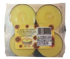 Citronella Maxi Tea Lights - Pack of 4 from Prices Candles Wax Tealights Garden