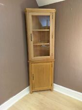 Toronto SOLID OAK CORNER DISPLAY CABINET Cupboard Unit - Glazed Door