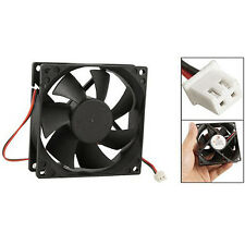 DC 12V Black 80mm Square Plastic Cooling Fan For Computer PC Case WS