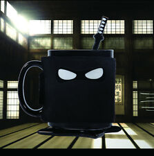 Ninja Mug Removable Cover Ninja Star Coaster Samurai Sword Spoon