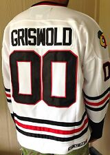 50/L GRISWOLD Chicago Blackhawks #00 Clark Christmas Movie CCM Hockey Jersey