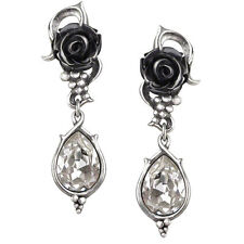 GENUINE Alchemy Gothic Earrings - Bacchanal Rose Studs | Ladies Fashion