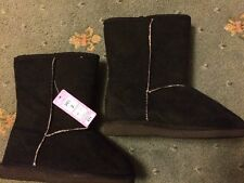 NEW - Black Faux Suede Boots / Size 2 / Marks & Spencer