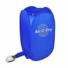 Portable Electric Clothes Dryer Indoor Home Folding Pop Up Heater Machine blue