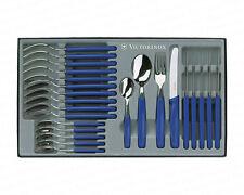 Victorinox Tafelbesteck 24 tlg Besteckset Messer rund Besteck blau