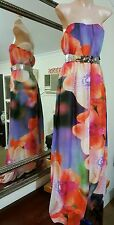 Beautiful Maxi Dress by ASOS.Sz8.Orchid design.Fully lined.Elasticized back