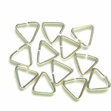 50 Silver Plated 9mm Triangle Jump Rings Findings