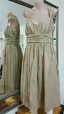 Basque Dress.Sz8.Fit & flare with full double skirt and fully lined.VGC.