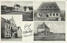 Alterkütz, Hunsrück, Bahnhof von der Gleisseite, Gasthof Berg, Denkmal u. Schule
