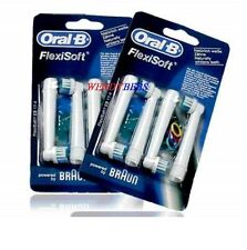 8 GENUINE BRAUN ORAL-B FLEXISOFT TOOTHBRUSH REPLACEMENT REFILL HEADS EB17-4 3 2*