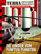 ADVERTISING BOOK COVER SCIENCE FICTION FOUR FIVE PLANET GERMANY POSTER LV541