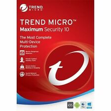 Trend Micro Maximum Security 10 2017 1 Year 3 Devices (Licence Key Only)