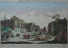 Paris Guckkastenblatt - Bau des Louvre - Original von B.F. Leizelt um 1770