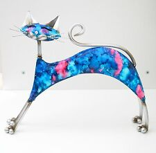 Contemporary Art Cat Sculpture Large Metal Figurine For Home Decoration Modern
