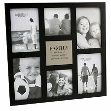 Family Large Black Juliana MDF Collage Multi Photo Frame 6 x Pictures Gift Ideas