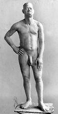 Akt Mann sehr groß männlicher Akt Stehender Aktfigur Gips Kunst Plastik Skulptur