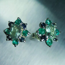 1ct Natural Russian Alexandrites colour change 925 Silver studs earrings 12x11mm