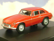 EXCELLENT OXFORD DIECAST 1/76 1968 MG MGB GT IN TARTAN RED 76MGBGT001