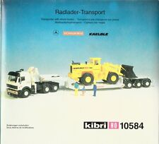 Spur HO Kibri 10584 Radlader Transport  OVP (829)