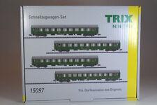 Minitrix 15097 Schnellzugwagen-Set DR Epoche IV. Neuware.